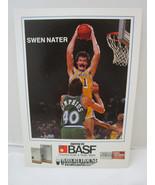 1983-84 BASF Lakers Promo Basketball card SWEN NATER  5x7 - $4.45