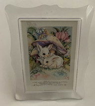 Acrylic Frame Music Box Love Is. . Easter Spring Bergsma Card Gift Bunny... - $19.79