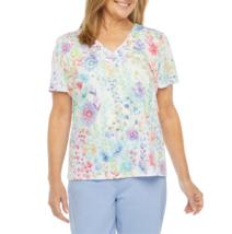 Alfred Dunner Captiva V Neck Short Sleeve T-Shirt Size S New Msrp $54.00  - $19.99