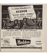 1947 Print Ad Heddon River Runt Spooks Fishing Lures Dowagiac,Michigan - $10.87