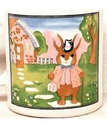 Easter Rabbit Top Hat Cane Bunny Trail House Holiday Mug Coffee - $19.87