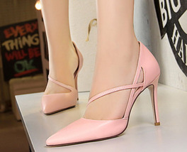 ph5014 Sweet pointy ankle heels size 4-9, pink - $69.99