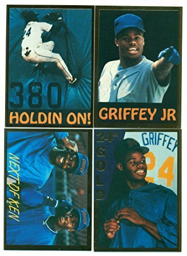 1991 Ken Griffey Jr. 4 Card Gazette Set - Seattle Mariners - Baseball Cards