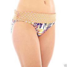 Liz Claiborne Tropical Print Sash Hipster Swim Bottoms Size 8 New Msrp $... - $14.99