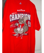 Majestic 2011 World Series Champions Relly Squirrel Cardinals T-Shirt Size Large - $17.00