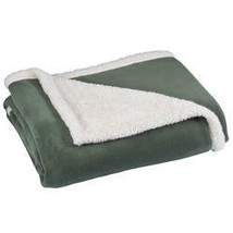 Ultra Plush Microfiber Sherpa Throw by OakRidge-Sage - $36.49