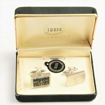 ESTATE VINTAGE Jewelry SWANK WATCH CUFFLINKS IN ORIGINAL BOX - $125.00