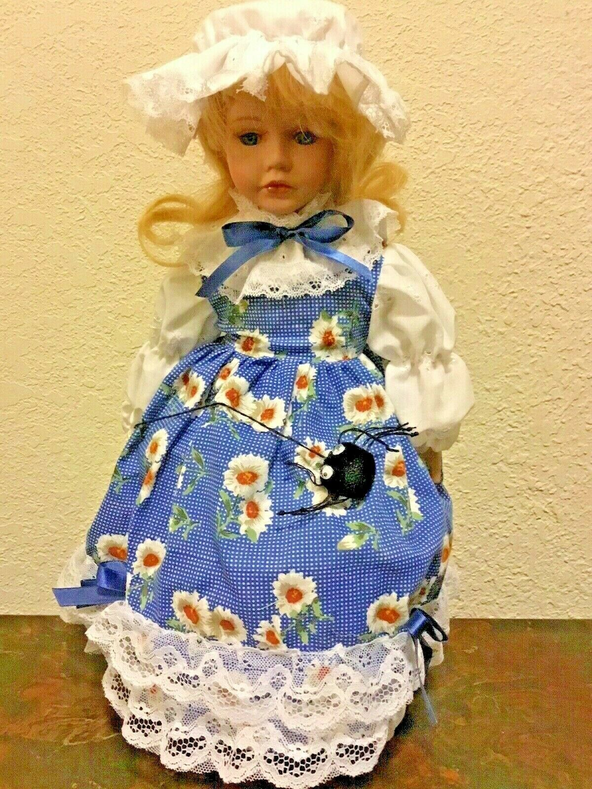 Brinn's Porcelain Doll Little Miss Muffet Authentic Collectible Nursery Rhyme