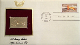 FISHING FLIES  :  Apte Tarpon Fly First Day Gold Stamp Issue May. 31, 1991 - $6.50