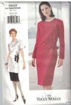 9922 Non Tagliati Vogue Cucito Motivo Misses Vestibilità Comoda Dritto T... - $9.97