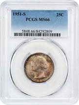 1951-S 25c PCGS MS66 - Washington Quarter - $58.20