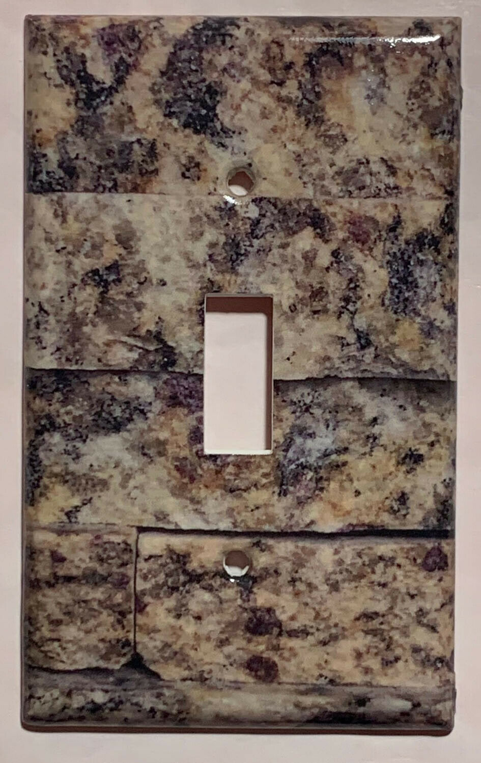 Natural Stone Tile Pattern Light Switch Outlet Phone wall Cover Plate Home Decor