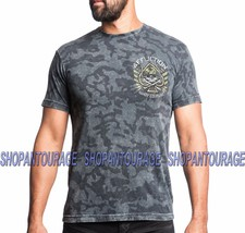 AFFLICTION Black Ace Couture A13821 Men`s New Black T-shirt - $45.95