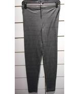 Leggings Größe L XL Dunkelgrau Fußlos Sexy Stretch Baumwolle Hose Nwt - $5.17