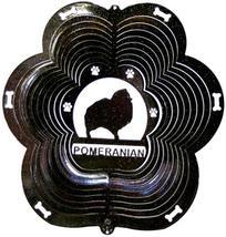 12 in stainless steel black Pomeranian dog USA 3D yard wind spinner, spi... - €26,12 EUR