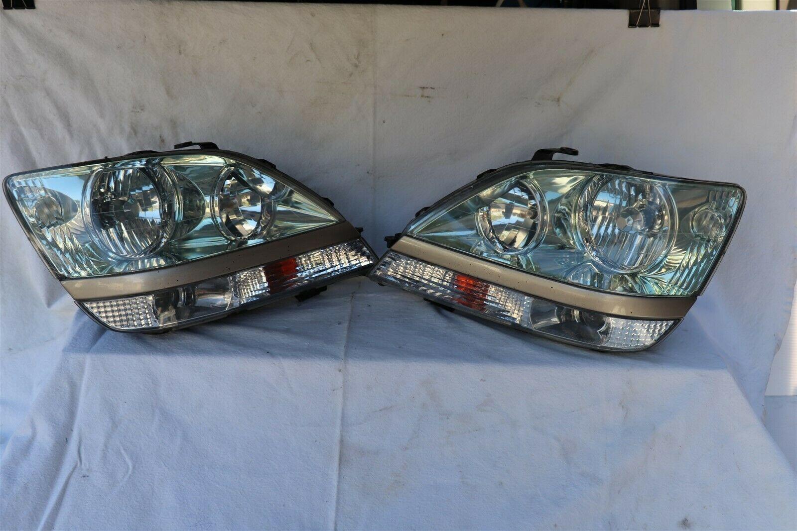 99-03 Lexus RX300 HID Xenon Headlight Lamp Matching Set Pair L&R - POLISHED