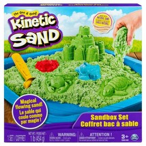 Kinetic Sand The One Only Sandcastle Set 1lb Sand Molds Tools (Green) - $20.00