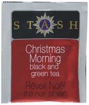 Stash Tea Christmas Morning Black & Green Tea 100 Count Tea Bags in Foil... - $29.08