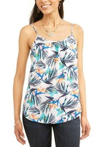 Time And Tru Women's Scoop Neck Woven Cami Shirt 3XL (22) Tropical Print - $10.88
