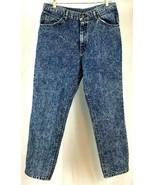 Lee Jeans 34 Cotton Blend Vintage Blue Denim Acid Wash - $19.75