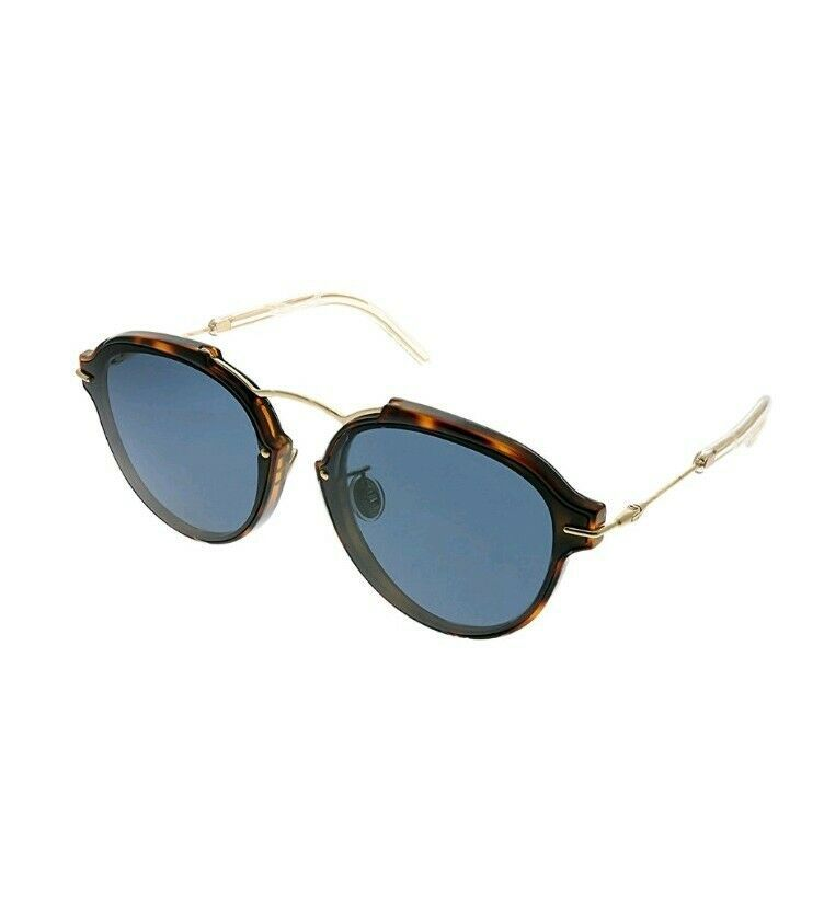 NEW CHRISTIAN DIOR ECLAT/S UGM/72 Havana Gold/Blue Gradient Sunglasses