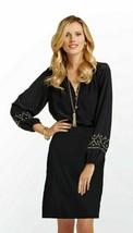 Lilly Pulitzer Karlen Stretch Cotton Sateen Black Skirt 12 $188 - $75.74