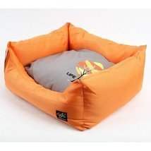 ALPHADOG SERIES DOG&CAT SQUARE PLUSH CUSHION BED (Small, Orange) - $35.99