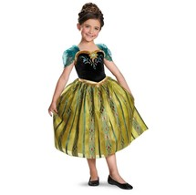 Frozen Princess Anna Deluxe Coronation Gown Child Costume Disguise 76909 - $32.33+