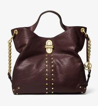 MICHAEL KORS Uptown Astor Legacy Large Leather Shoulder Tote Bag - Barolo - $328.00