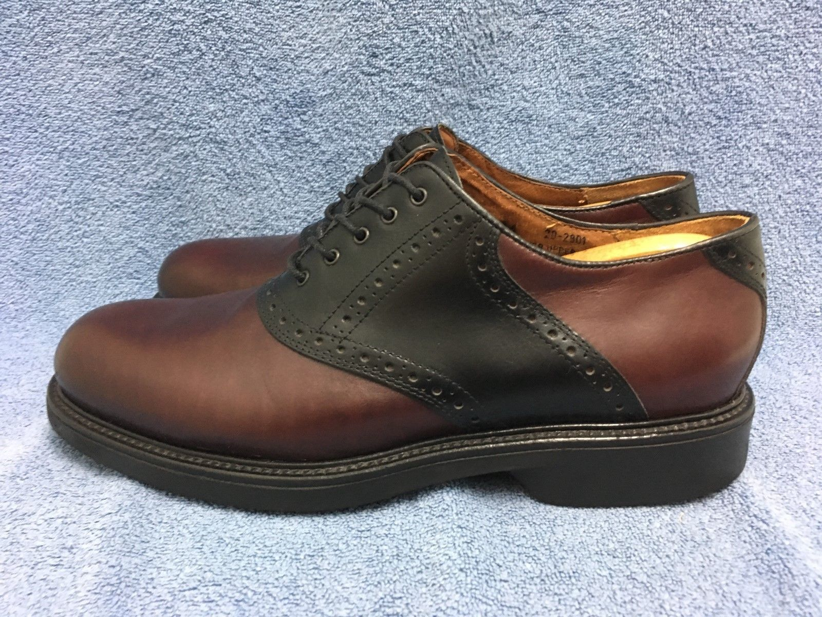 Johnston & Murphy Passport Two Tone Saddle Oxfords Made in Italy Size 11 1/2 M