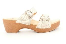 Abeo Sophie   Slides Sandals  Gold Snake Women's Size  40 () - $83.80