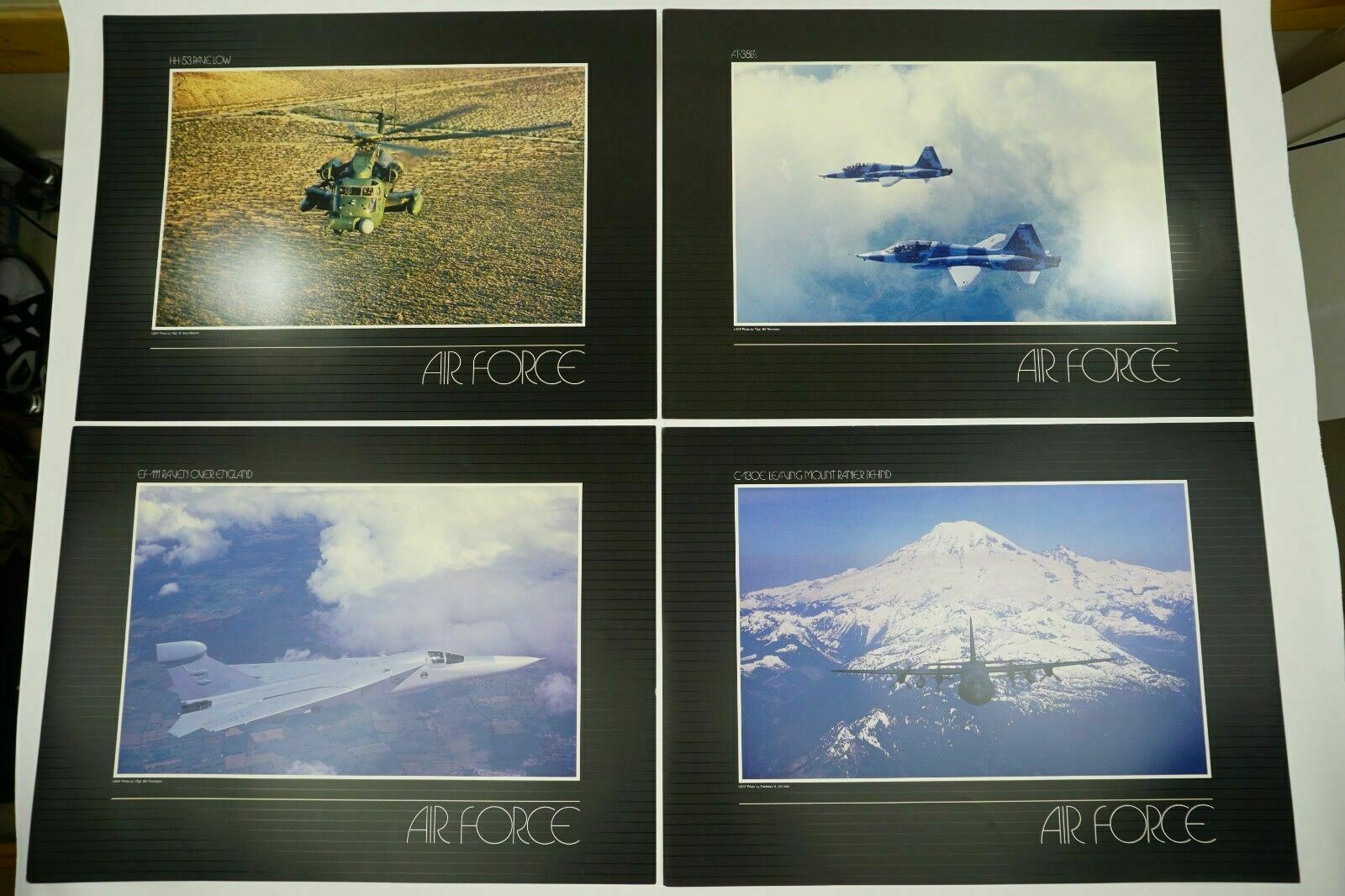 Primary image for US Air Force Lithograph Prints Set Of 5 Rare Art Collection USAF Photographs Vtg
