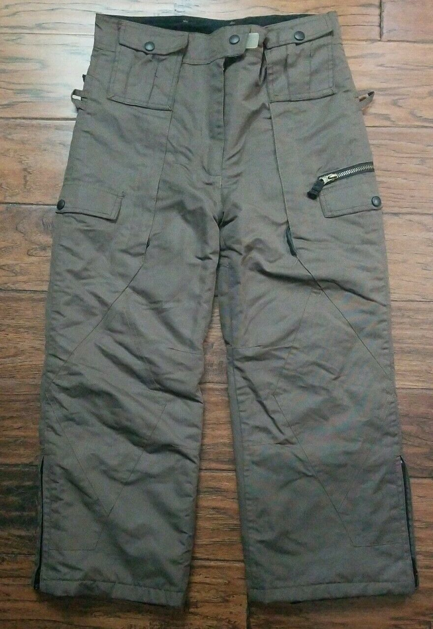 Iceburg Insulated Pants Girls Sz M10/12 Brown Snow Ski, Nice! (W10)