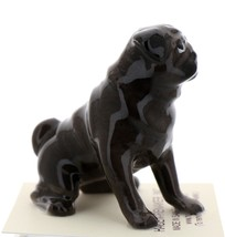 Hagen-Renaker Miniature Ceramic Dog Figurine Pug Black Mama Sitting image 2