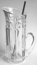 """MARQUIS BY WATERFORD QUADRATA 10"""" MARTINI PITCHER WITH STIRRER deco style  - $74.25"""