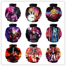 2018 Dragon Ball Z New Fashion Mens/Womens Cartoon Anime Funny 3D Print Casual S - $48.96