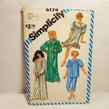 Misses Pajamas Nightgown Size 18 - 20 Simplicity 6174 Uncut 1983 2 Lengths - $16.99