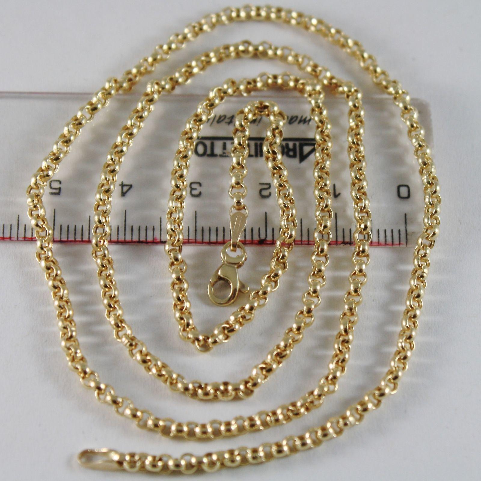 CADENA DE ORO AMARILLO 750 18 CT LARGO 40 45 50 60 CM,ROLO ANILLOS ESPESOR 2.5