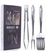 Heavy Duty BBQ Grilling Tools Set. Extra Thick... - £33.02 GBP