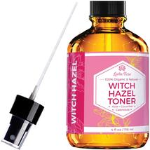 Witch Hazel Toner by Leven Rose, 100% Pure Organic Facial Rose Water wit... - $16.99