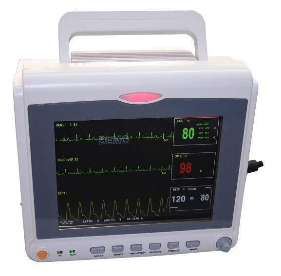 CONTEC Vital Signs ICU CCU Patient Monitor 4 parameter 8.4 INCH ECG NIBP SPO2 PR