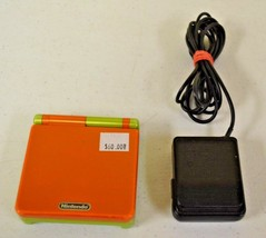 Nintendo Gameboy Advance SP Lime Green/Spice Orange Handheld GBA w Charg... - $54.44
