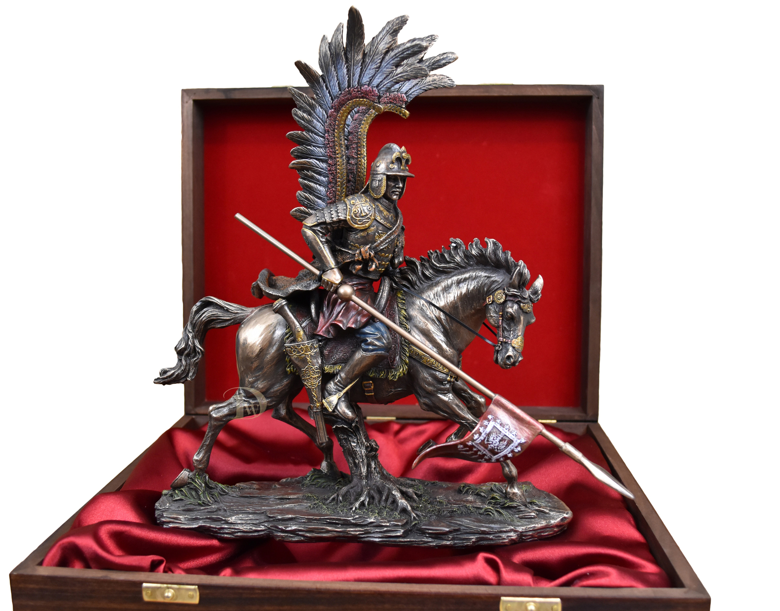 Polish Hussar in a Wooden Box Beautiful Gift * Free Air Shipping Everywhere * *