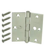 Everbilt 3-1/2 in. Stainless Steel Square Corner Security Door Hinge - $23.95