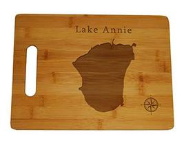 Lake Annie Map Engraved Bamboo Cutting Board 9.75x13.75 inches Florida - $34.64