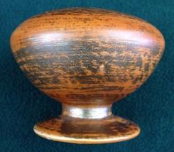 Freeman McFarlin Mid Century Modern Art Pottery Orange Gold Brushed Vase... - $18.65