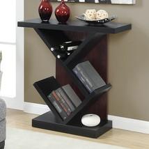 Newport Bistro Console Table,Black/Mahogany Finish,Functional Home Decor... - $135.05