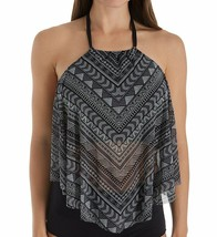 Coco Reef BLACK/WHITE LINES Pacific Stripe Ruffle Underwire Tankini Top,... - $42.57