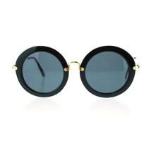 Womens New Acetate Round Circle Runway Fashion Metal Hinge Designer Sunglasses - $7.95
