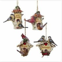 Birch Cardinals & Chickadees Birdhouse Ornament - $14.95